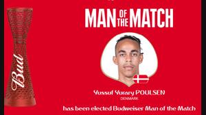 بهترین بازیکن بازی پرو و دانمارک