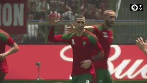 شبیه سازی بازی ایران مراکش در جام جهانی ۲۰۱۸