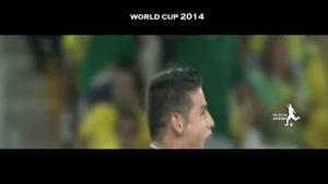 گل های جیمز رودریگز در جام جهانی 2014