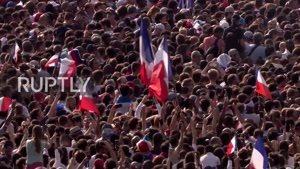 ورود بازیکنان فرانسه به پاریس