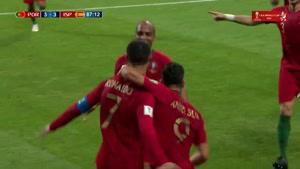 سوپر گل رونالدو به اسپانیا با ضربه ایستگاهی