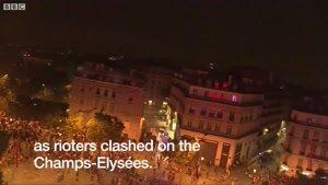 درگیری های شدید در شب جشن قهرمانی پاریس