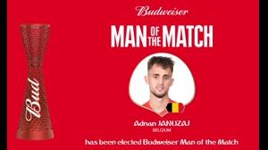 بهترین بازیکن بازی انگلیس و بلژیک