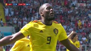 گل دوم بلژیک به تونس توسط لوکاکو