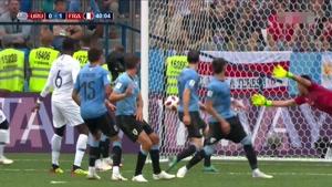 گل اول فرانسه به اروگوئه توسط واران