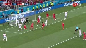 صحنه حساس بازی انگلیس و تونس