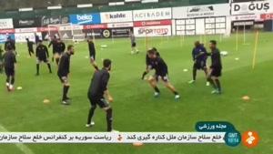 تمرینات سخت و فشرده تیم ملی ایران