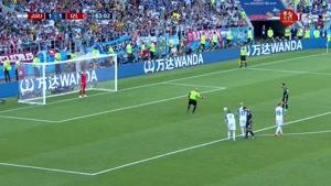 اولین پنالتی از دست رفته جام جهانی ۲۰۱۸ توسط  مسی