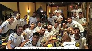 آرژانتینی ها در رستوران خانوادگی مسی