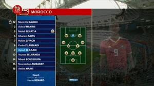 ترکیب تیم ملی ایران و مراکش جام جهانی ۲۰۱۸