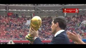 کاسیاس از کاپ زیبای جام جهانی رونمایی کرد