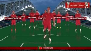 ترکیب دو تیم اسپانیا و پرتغال جام جهانی ۲۰۱۸