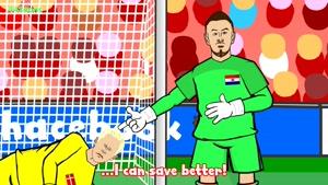 طنز ضربات پنالتی بازی دانمارک و کرواسی