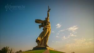 گذر زمان از ولگوگراد شهری در روسیه