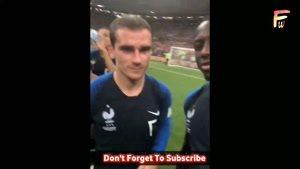 جشن قهرمانی بازیکنان فرانسه در رختکن
