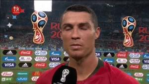 صحبتهای رونالدو و سانتوس مربی پرتغال بعد از بازی با اسپانیا