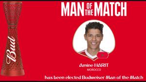 بهترین بازیکن بازی مراکش و ایران
