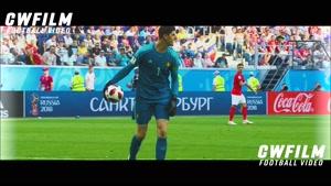 تیبو کورتوا در بازی با انگلیس در رده بندی
