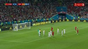 گل اول پرتغال توسط رونالدو از روی نقطه پنالتی
