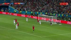 شوت سرکش ایسکو در بازی اسپانیا و پرتغال