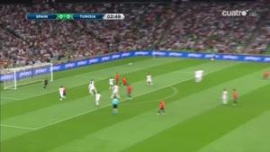 بازی دوستانه اسپانیا ۱ - ۰ تونس