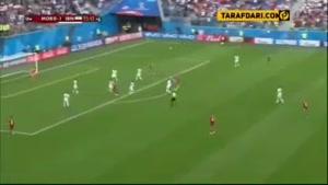 اشاره جالب گزارشگر ITV در دقایق پایانی بازی ایران و مراکش به تحریم های بین المللی و شرکت نایک