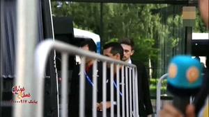 تیم داوری ایران هتل را به مقصد استادیوم بازی ترک کردند