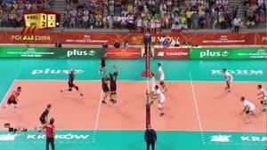 والیبال ایران و بلژیک ۱۳۹۳/۰۶/۱۵ ست ۴