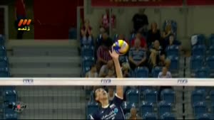 والیبال ایران و فرانسه پنج شنبه ۱۳۹۳.۶.۱۳(ست۲)