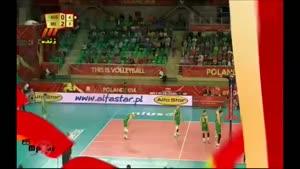 والیبال جهانی ۱۳۹۳/۰۶/۱۹ ایران ۳-۱ استرالیا ست ۳