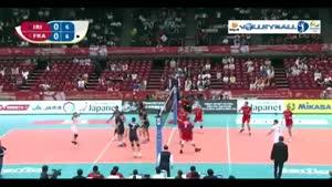 والیبال ایران ۰-۳ فرانسه (انتخابی المپیک)