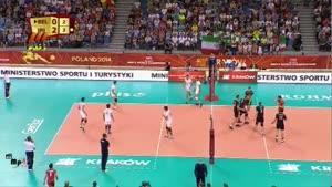 والیبال ایران و بلژیک ۱۳۹۳/۰۶/۱۵ ست ۳-۱