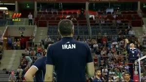 والیبال ایران و فرانسه پنج شنبه ۱۳۹۳.۶.۱۳(ست۴)