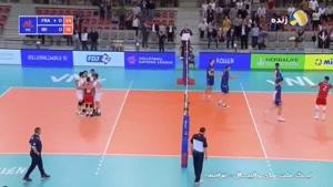 لیگ ملتهای والیبال فرانسه ۳ - ایران ۱