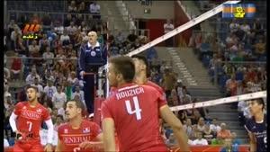 والیبال ایران وفرانسه پنج شنبه ۱۳۹۳.۶.۱۳(ست۱)