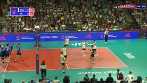 لیگ ملتهای والیبال ایران 0 - آمریکا 3