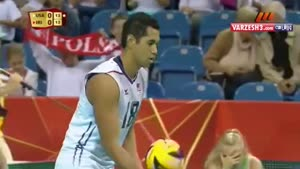 والیبال بازی ایران - آمریکا
