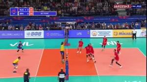 لیگ ملتهای والیبال روسیه ۱ - برزیل ۳