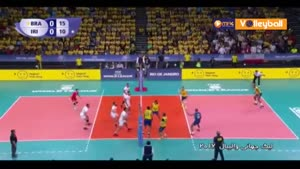 خلاصه والیبال برزیل ۳-۰ ایران (لیگ جهانی والیبال)