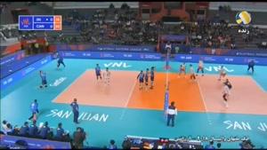 لیگ ملتهای والیبال کانادا ۳ - ایران ۱