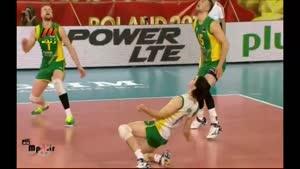 والیبال جهانی ۱۳۹۳/۰۶/۱۹ ایران ۳-۱ استرالیا ست ۴