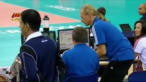 والیبال ایران و فرانسه پنج شنبه ۱۳۹۳.۶.۱۳(ست۳)