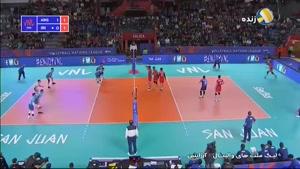 لیگ ملتهای والیبال آرژانتین ۲ - ایران ۳