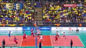 فرانسه ۳-۲ صربستان