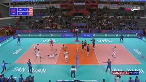 لیگ ملتهای والیبال ایتالیا ۳ - ایران ۰