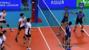 لیگ ملتهای والیبال ایران ۱ ژاپن ۳