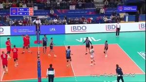 لیگ ملتهای والیبال روسیه ۳ - ایران ۱