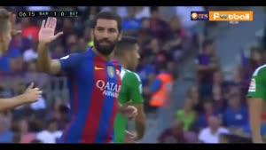 بارسلونا ۶-۲ رئال بتیس(سوپر گل و هتریک سوارز)