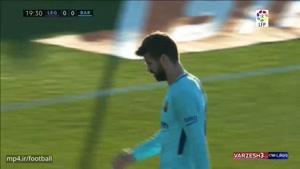 خلاصه بازی لگانس ۰ - بارسلونا ۳ (دبل سوارز)