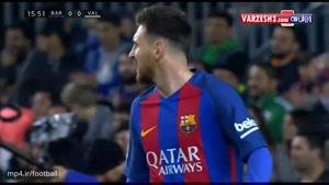 خلاصه بازی بارسلونا ۴-۲ والنسیا
